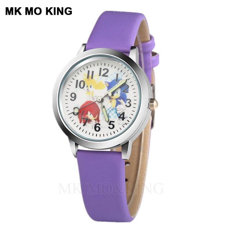 Rôle de luxe lumineux Anime dessin animé Elf Sport mignon enfants garçons filles enfants Quartz montre-bracelet horloge cadeaux bracelet snokeable