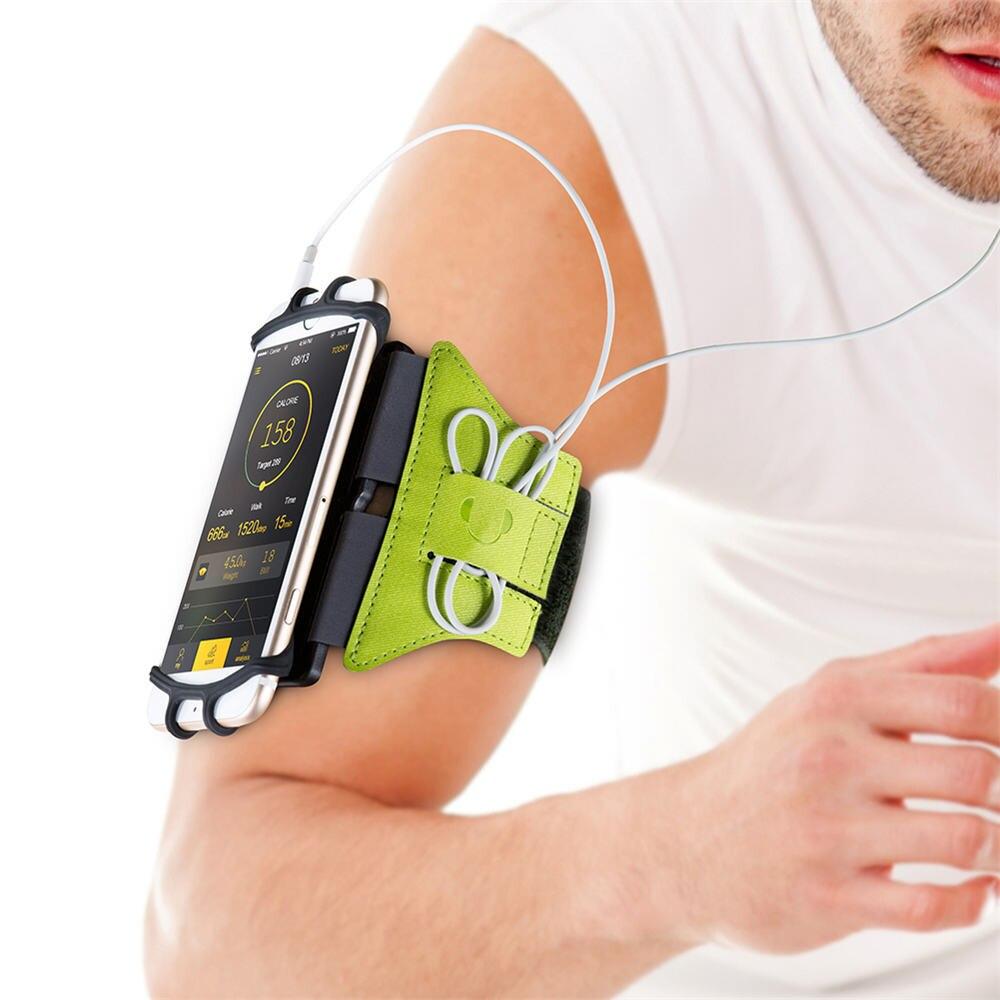 Bolsa para el brazo de 4-6 pulgadas, funda Universal giratoria para el brazalete deportivo, funda para el teléfono para el brazo para correr, funda para el brazo