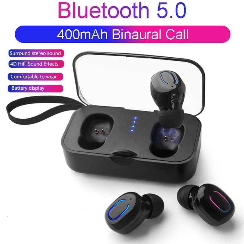 TI8S Bluetooth 5.0 earphone Wireless TWS Bluetooth Earphone Mini Erabuds 3D Stereo with Mic Charging box headset A20