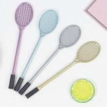 1 Pcs Kawaii Cartoon 0.5Mm Schrijven Pen Badminton Racket Gel Pen Plastic Handtekening Pen Escolar Papelaria School Office Supply