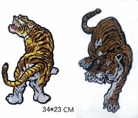 animals tiger applique embroidered patches for cloth handmade flowers garment pins for sewing patch