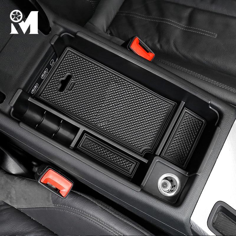 Accesorios para el coche, reposabrazos Central de plástico ABS, caja de almacenamiento, organizador Interior para el coche para Audi A3 8V A4 B8 B9 A5 Q3 Q5 guantera