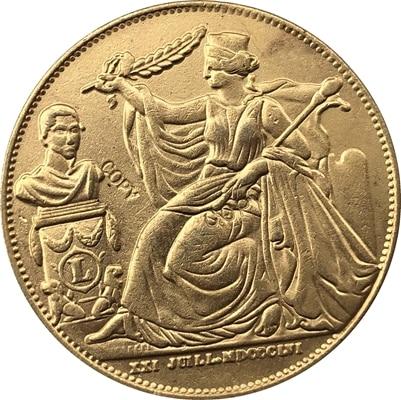 1856 Cêntimos Bélgica 5 28 MM