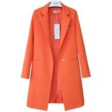 가을 새로운 작은 정장 여성의 긴 섹션 패션 레이디 블레 이저-긴팔 대형 양복은 얇은 야생 재킷했다