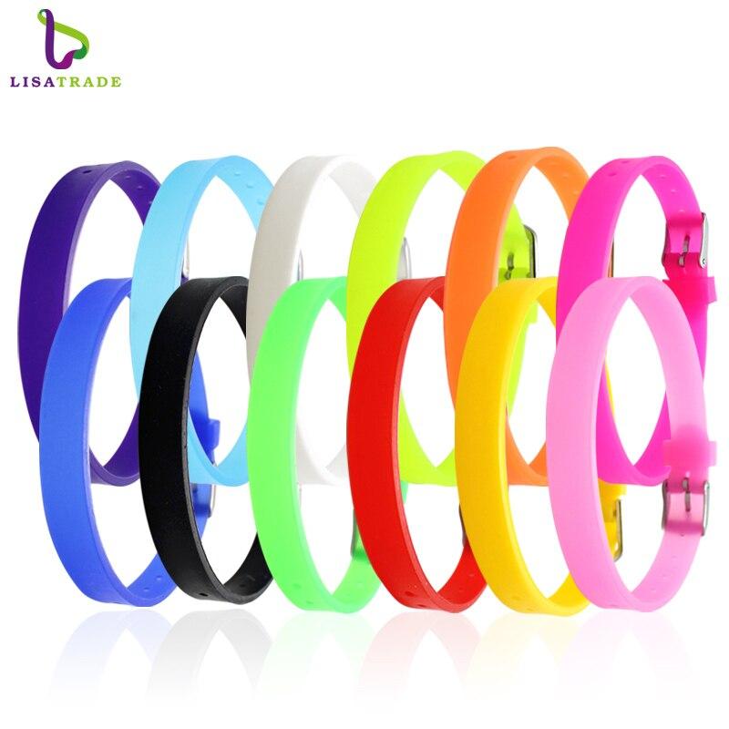 Fashion Jewelry 10pcs Silicone Bracelet ,Fashion Charm Bracelet, Bracelet Fit for 8mm Slide letters/Charms LSBR09*10