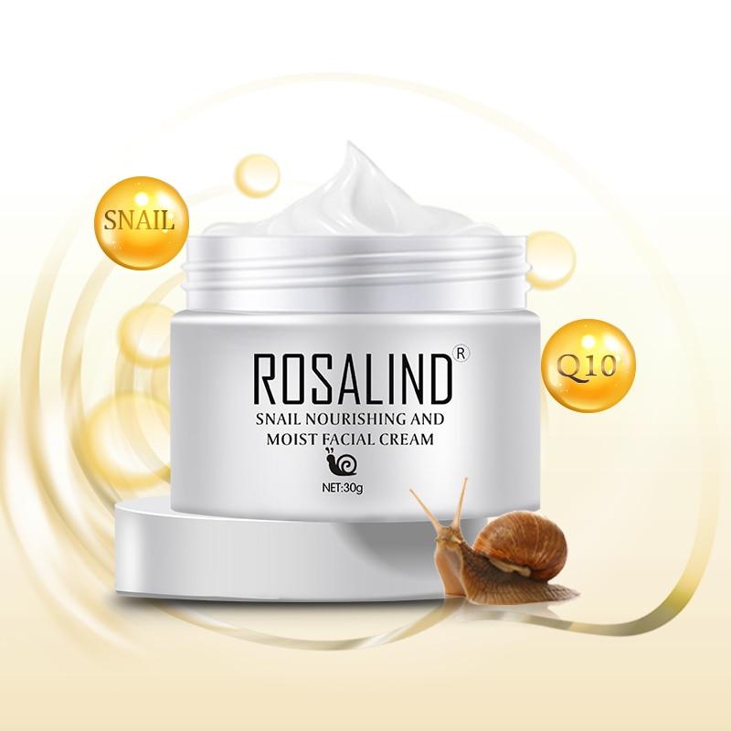 Crema Facial de Caracol antiedad de ROSALIND crema Facial de Caracol de ácido hialurónico crema Facial antiarrugas crema cosmética coreana para el cuidado de la cara