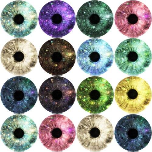 Redondas mixtas cristal Rana lagarto ojos pupila cabujón accesorio cabujón de cristal DIY hecho a mano joyería hallazgos 10-25mm 8 estilo