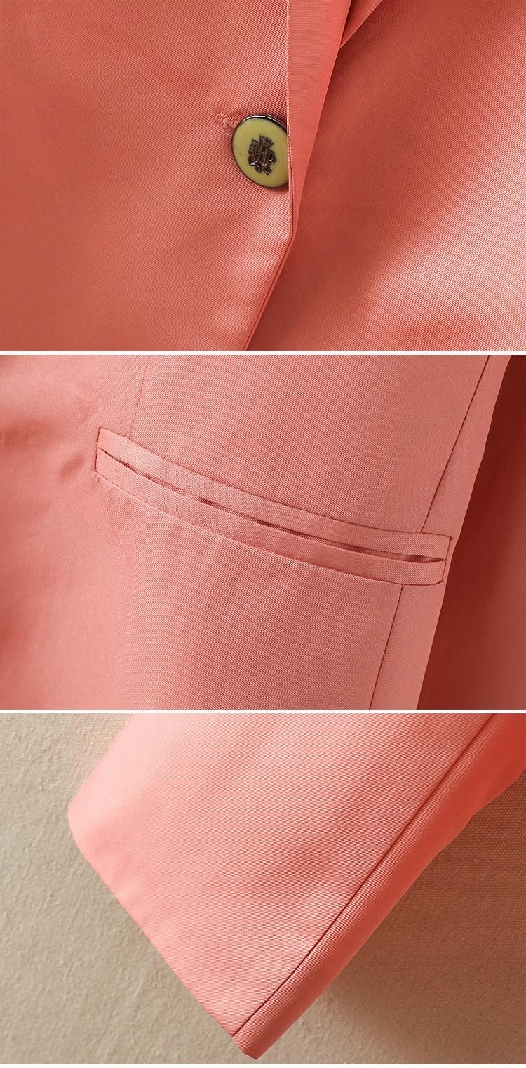 NOWY blazer kobiety kostiumu blezer składana marka kurtka wykonana z bawełny i elastanu z podszewką Vogue odśwież blazers 15