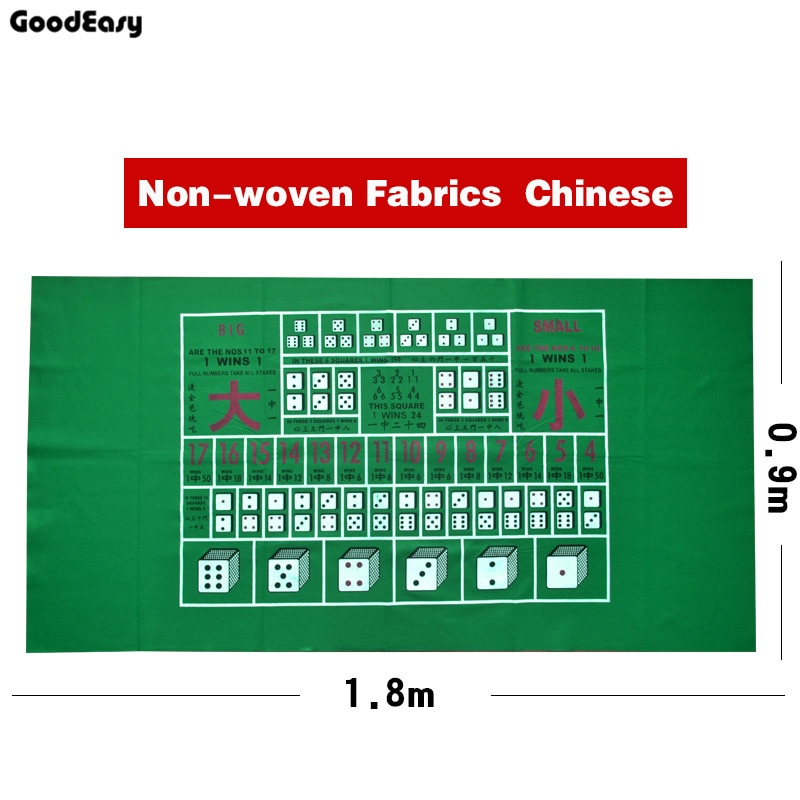 Nicht-wavon Stoffe/Gummi Texas Holdem Poker Tisch Matte Poker Gaming Matte Tisch Tuch Spiel Tuch Sic Bo mit Englisch/Chinesisch