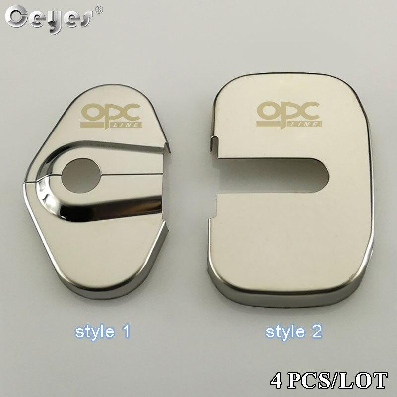 Ceyes estilo de coche Auto cerradura de puerta cubiertas para Opel Opc línea logotipo Corsa para Vauxhall Insignia accesorios para el coche accesorios-pegatinas de diseño