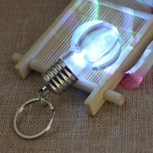 1pc LED Flashlight Light Bulb Key Ring Keychain Lamp Torch Bag Key Chains Crystal Keyring Car Key Chain Women Key Holder