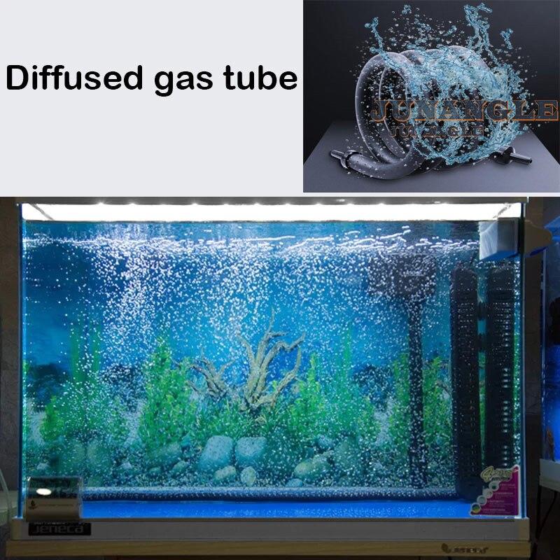 Hu bomba de ar tubo mangueira aquários ar pedra bolha tanque de peixes bomba hidropônico oxigênio difusor tubo acessórios do aquário decoração