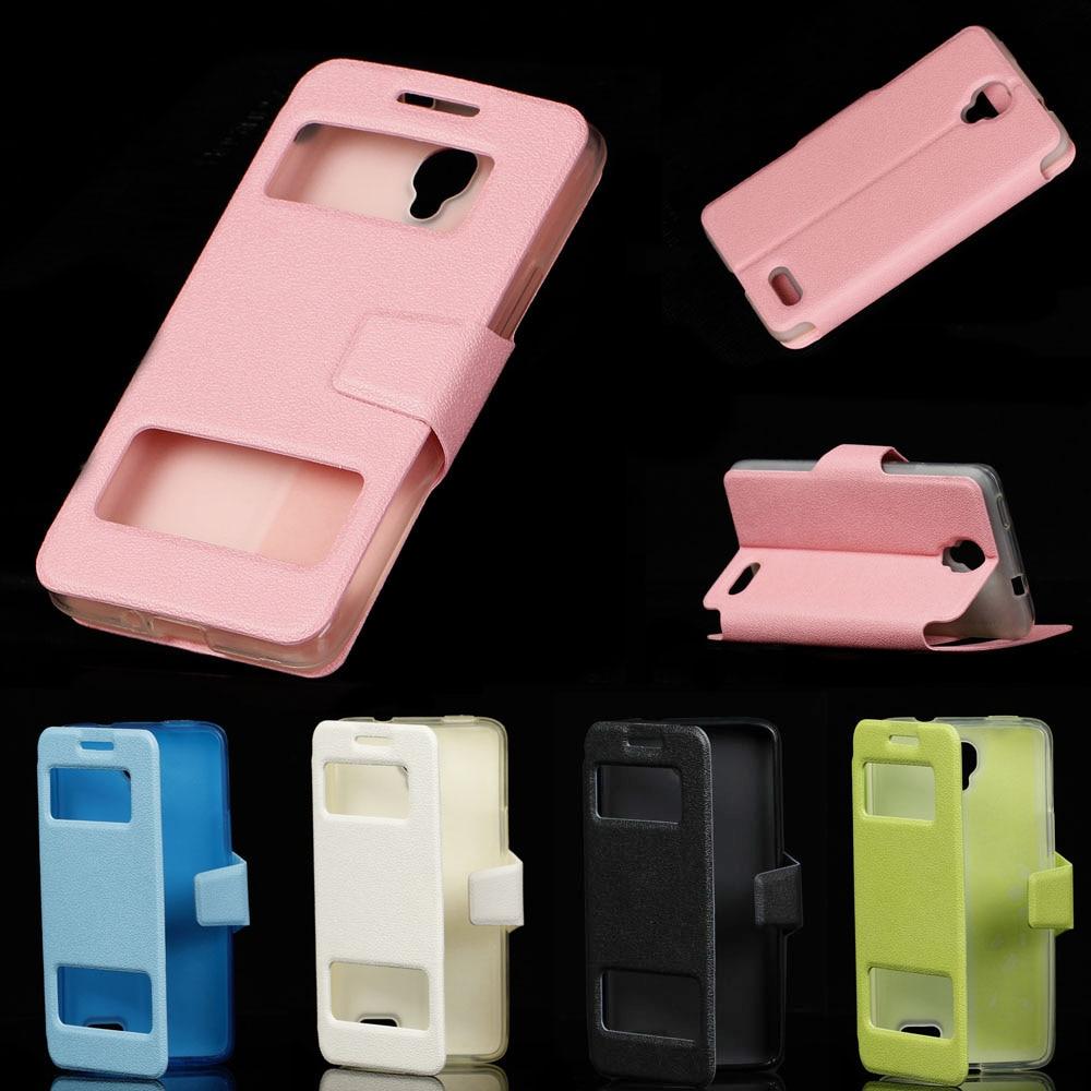 Чехол из искусственной кожи 4.66для Alcatel One Touch Idol OT 6030, чехол для Alcatel One Touch Idol OT 6030 6030D, чехол с откидной крышкой для мобильного телефона
