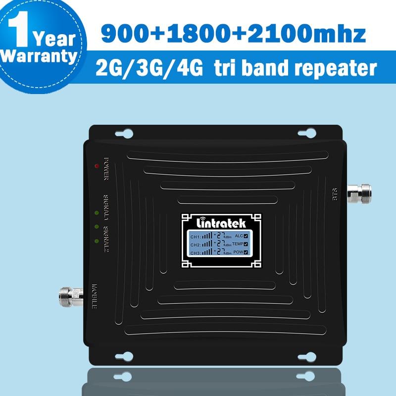 Lintratek 2G 3G 4G teléfono móvil celular amplificador de señal GSM 900...
