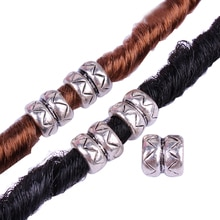 10pcs Tibet   BIG Hole Charms Cask Metal Alloy DIY Beads Dread Dreadlock Beads ,6mmx12mm Charm For Bracelets Making