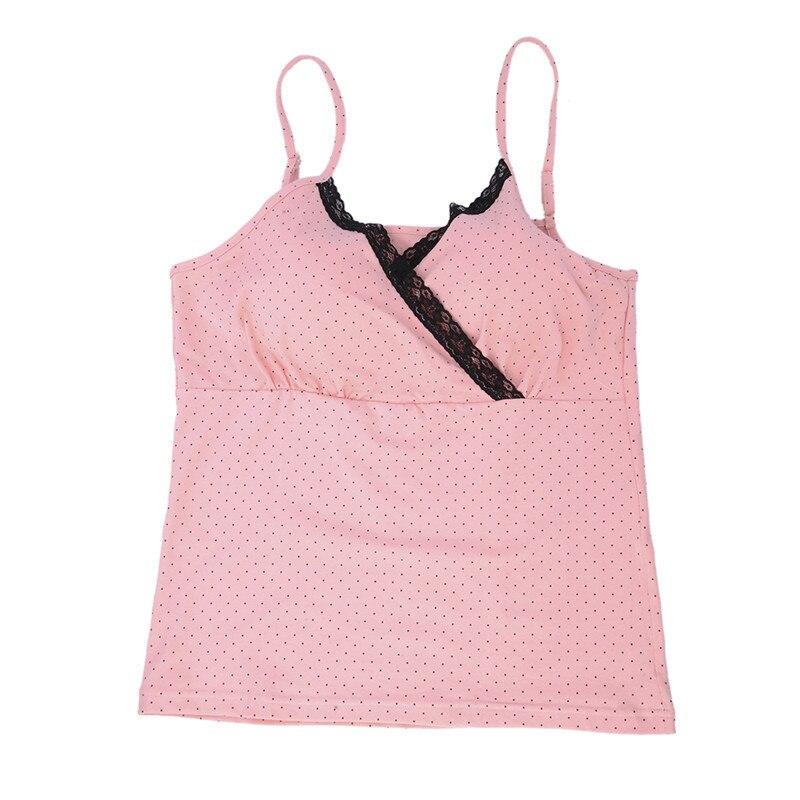 1 pc macierzyńskiego wszystkie czystej bawełny piżamy piersi kobiet szelki koszula bez stalowy pierścień pad w klatce piersiowej najniższy koszula m/l/xl 2 kolory 14