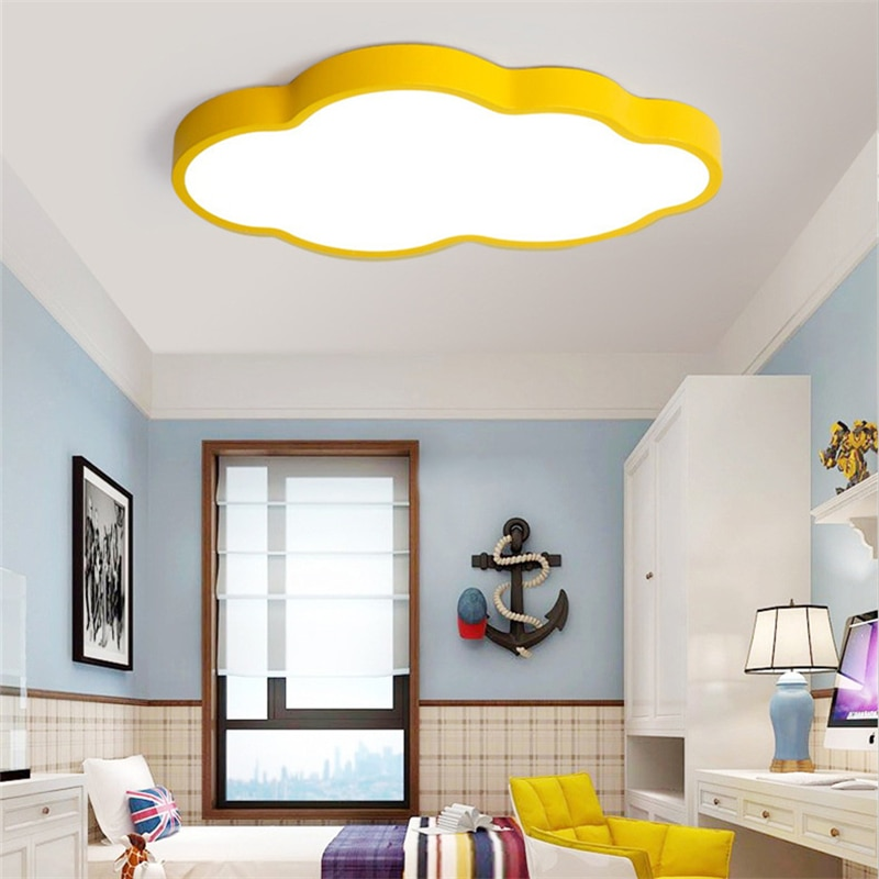 Modern Creative cloud style LED ceiling lamp Ultra thin Energy saving Ceiling Light for living room kindergarten children's room  - buy with discount
