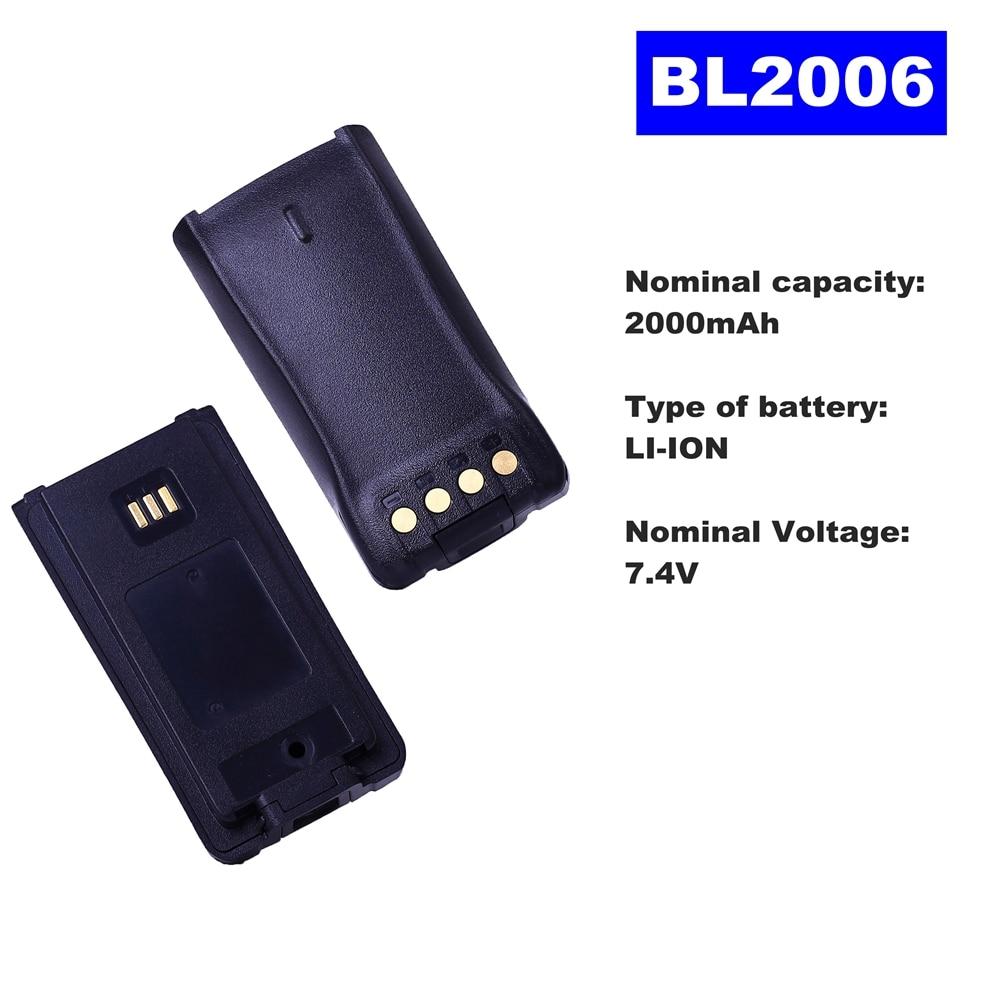 7.4V 2000mAh LI-ION Radio Battery BL-2006 For HYT Walkie Talkie PD780/PD780G PD700/PD700S Two Way Radio