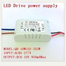 1 5 10 pièces Isolées 900mA 10 W LED Driver 2X3 W 3X3 W AC 110 V 220 V à DC 6-10 V Alimentation pour 10 W Haute Puissance Rouge Blanc puce LED