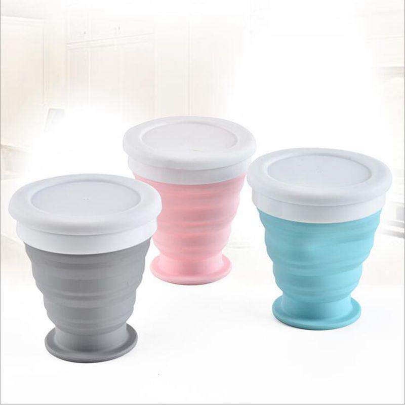 Складная Силиконовая бутылка для воды, портативные дорожные бутылки для питья, посуда для отдыха на природе, телескопическая складная Выдвижная чашка
