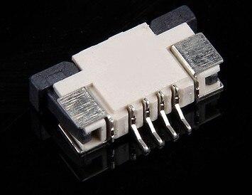 WZSM Frete Grátis NEW FFC FPC Conector do Cabo Flexível Plana Tomada 1.0mm Pitch 4 pin Conector H = 2.5mm
