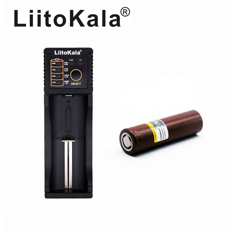 LiitoKala HG2 nuevo original 18650 batería de litio 3,7 V 3000 mAh baterías recargables 30A + Lii-100B 18650 cargador