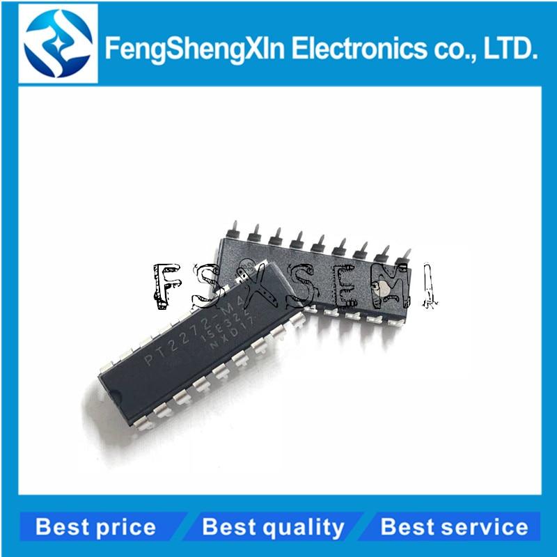100 unids/lote PT2272-M4 PT2272 DIP-18 decodificador Control remoto IC