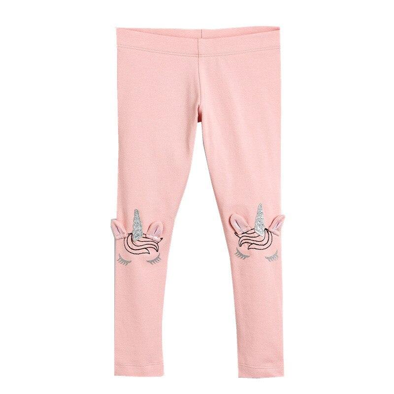 Pantalones de lápiz con dibujos de unicornios de 2-7T de Jumping Meter, pantalones de algodón rosas en oferta, nueva ropa de primavera y otoño