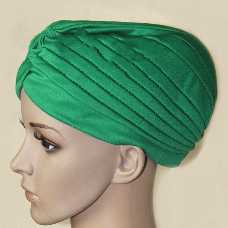 Moda mujeres Hijab turbante gorro islámico sombrero liso musulmán gorros hindúes nuevo LXH