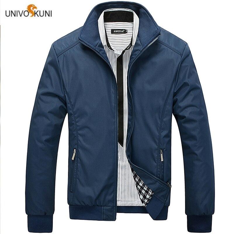 UNIVOS KUNI 2019, chaqueta informal para hombre, Color sólido, marca de otoño,...