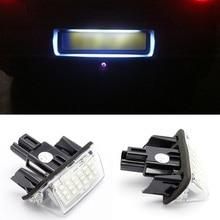 2 unids/set 18 LED luz de placa de matrícula del coche bombilla para Toyota Camry Yaris Corolla Fielder CSL2018