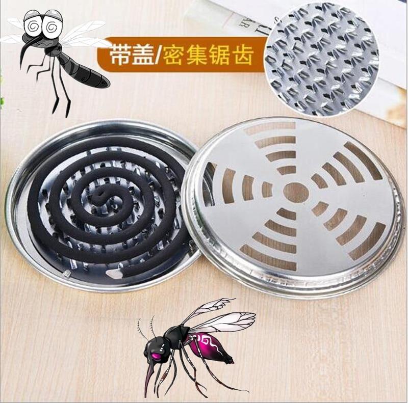 Muggenspiraal Houder Grote Metalen Muggenspray Rack Met Cover Muggen Wierook Plaat