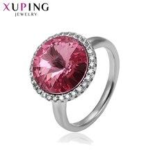 Xuping luksusowy geometryczny pierścionek Sexy kryształy swarovskiego słodka biżuteria dla kobiet prezenty świąteczne S140.9-14526