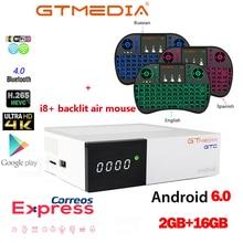 FREESAT GTC Satellite TV Empfänger DVB-S2/C/T2/ISDB-T Android 6,0 Smart TV Box 2GB 16GB BT 4,0 i8 + air maus drahtlose tastatur