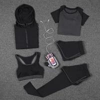 new women yoga sport suit bra set female short sleeved summer sportswear running quick dry fitness training clothing