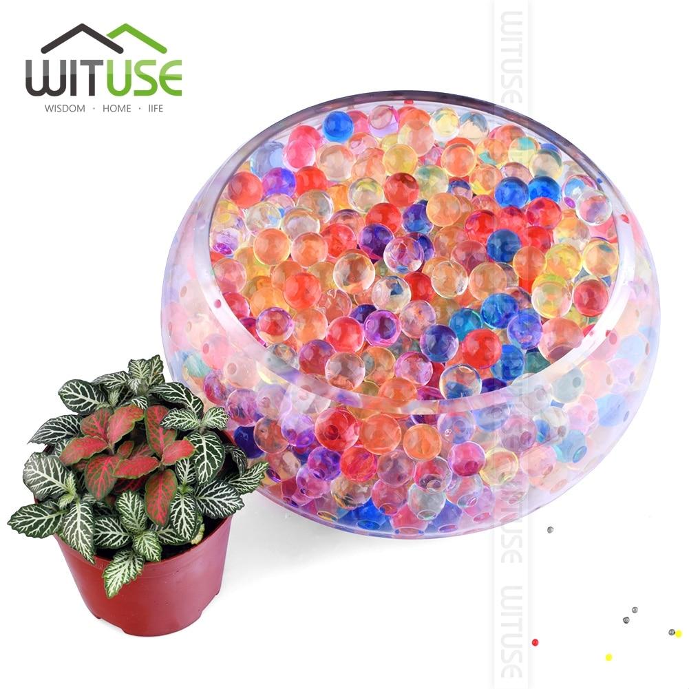 1000 Uds. 13mm cuentas de agua de suelo de cristal en forma de perla barro hacer crecer bolas de gelatina mágica decoración del hogar suelo de agua al por mayor