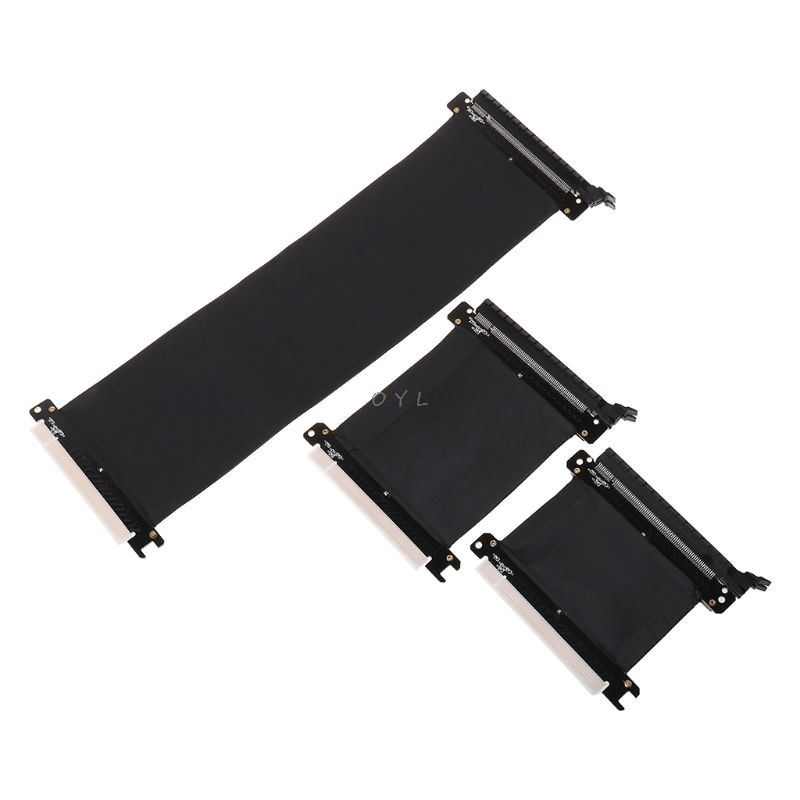 16x Flexible Cable Riser Card Extension Port Adapter Graphics Video Card Extend Cord for 1U 2U Chassis