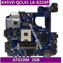 K45VD QCL41 LA-8224P GT610M 2GB anakart ASUS A45V A85V K45VD A85V K45V K45VM K45VJ K45VS Laptop anakart testi tamam