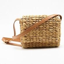 JHD-Hot الصيف المرأة حقيبة كتف يدوية رائعة حقائب قش صغيرة المنسوجة رفرف الحلو الرعوية الروطان الفتيات حقيبة