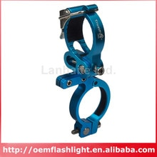 TrustFire HE02 Aluminium Alloy Bike Handlebar Light Mount for Flashlights - Blue