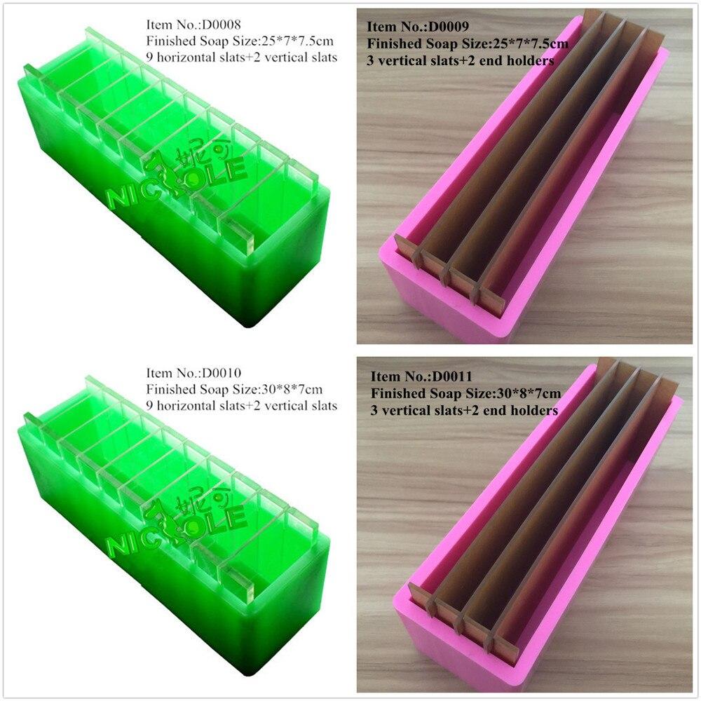 Molde de jabón para pan de silicona, con divisores horizontales verticales, para moldes de jabones hechos a mano