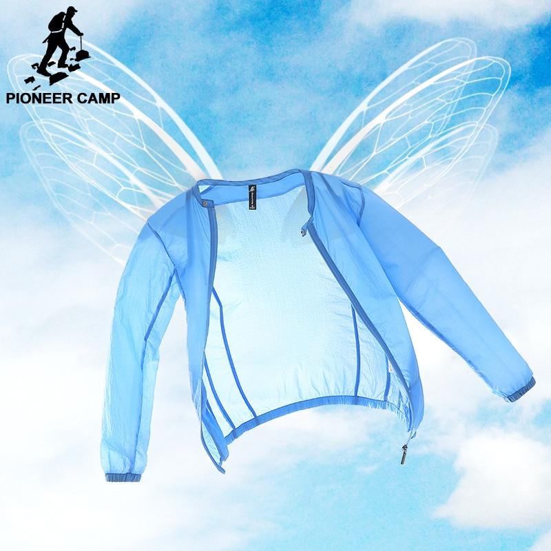 Pioneer Camp Summer sun protection clothing men jacket ultra light breathable waterproof Jacket men's  Sunscreen 677052
