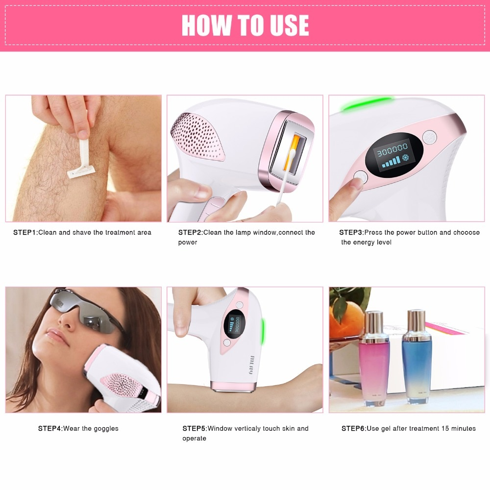 Laser Mlay T4 IPL Laser Hair Removal Device Epilator Ice Cool Painless Hair Remover Bikini Trimmer Depilator a Laser for Women enlarge