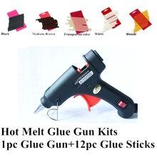hair glue gun/ 20w Hot Melt Glue Sticks 10*0.7cm 12pc Professional Hair Tools Kits