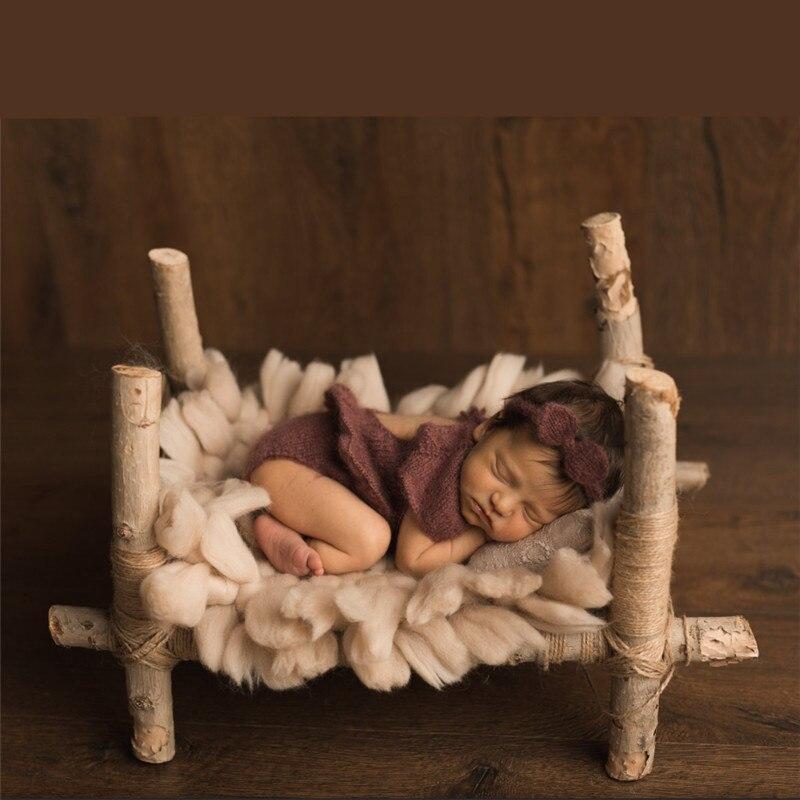 Accesorios para sesión de fotos de bebés, 45cm x 45cm, mantas Fber de algodón, lana gruesa tejida, cojín decorativo cuadrado, mantas para sesiones de fotos de bebés recién nacidos
