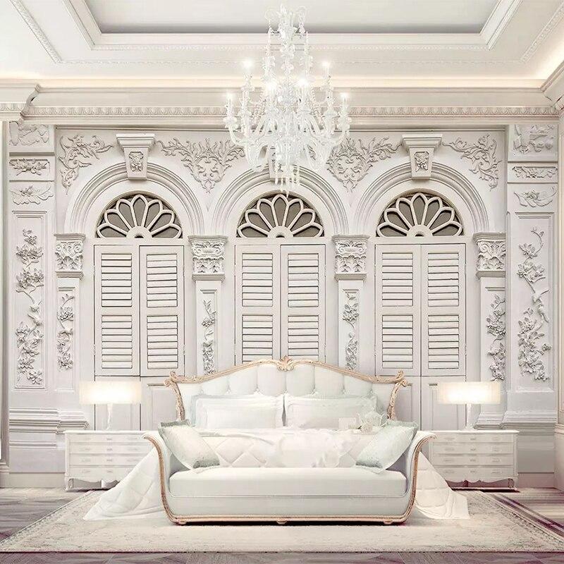 Papel de parede personalizado mural 3d, estilo europeu simples, branco, alívio, foto, papel de parede, sala, quarto, decoração de luxo, papel de parede