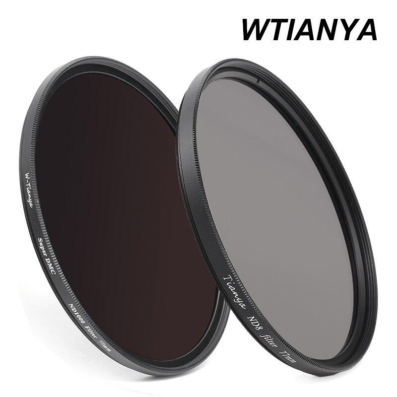 Filtro WTINAYA ND 8 ND 1000 ND 72mm para lente de cámara digital (ND8 0,9 + ND1000 3,0 densidad neutra + tapa de lente)
