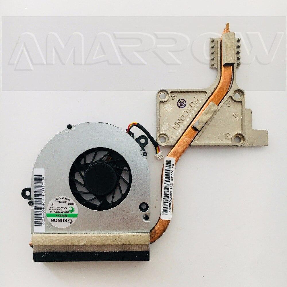 Оригинальный Бесплатная доставка радиатор для ноутбука охлаждающий вентилятор cpu кулер для ACER EME525 EME725 AT06R0020X0 AT06R0010C0 AT06R0070V0
