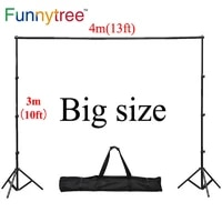 funnytree 43m 1310ft professional backdrops stand background support system 2 stands4 cross bareach 1mcarry bag4 clips