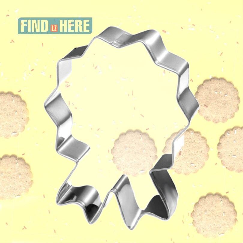 Molde cortador de galletas, herramientas para hornear de acero inoxidable, forma de cinta de medallón, DIY, para hornear, medalla de galletas, molde cortador de galletas, utensilios para hornear